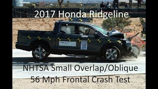 2017-2019 Honda Ridgeline NHTSA Oblique Overlap Frontal Crash Test (Test #2)