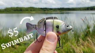 CHEAP Swimbait Fishing Challenge (Bass LOVE them!) ft. fishingwithnorm