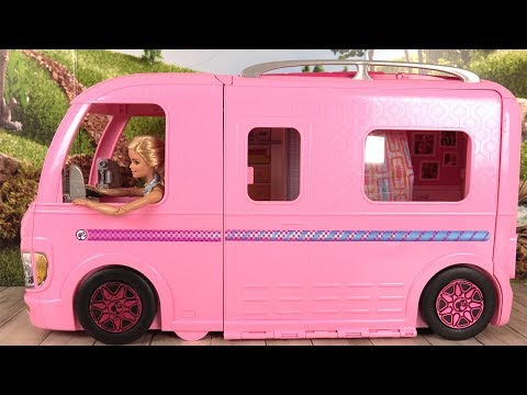 Barbie Camping-Car Transformable Histoires de Poupées Barbie RV Camper Van