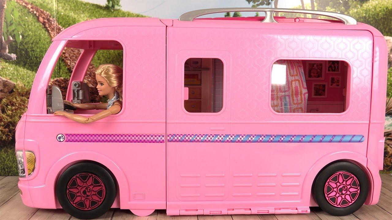 barbie camping car transformable histoires de poup es. Black Bedroom Furniture Sets. Home Design Ideas