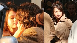 Selena Gomez Kisses Timothee Chalamet On Set Of Woody Allen's Latest Film In NYC