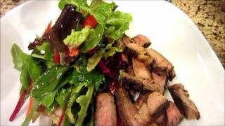 Salad with Steak Strips