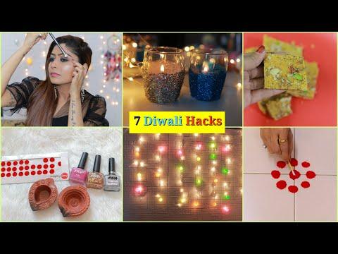 7-diwali-life-hacks-you-must-try-|-#makeup-#homedecor-#festival