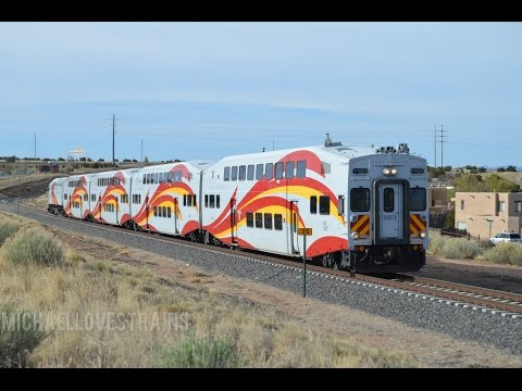 New Mexico Rail Runner and BNSF Freight Action in Albuquerque and Santa Fe, NM