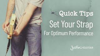 Quick Guitar Tips #7 - Set Your Strap For Optimum Performance - Guitar Lesson [QT-007]