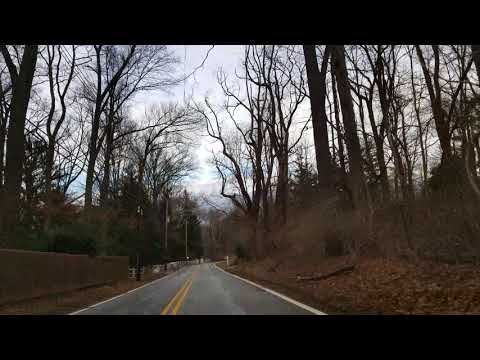 Driving in the country of New Jersey 4K