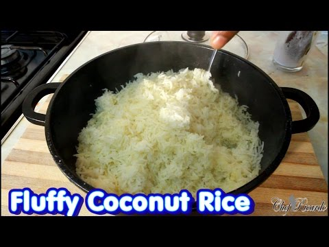 Jamaican Fluffy Coconut Rice From Jamaica Chef