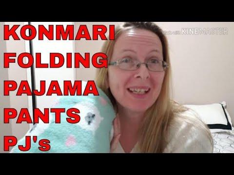 How To Fold Pajama Pants And Tops | Fold Pj's | KonMari Folding | Marie Kondo Folding Pajama Pants