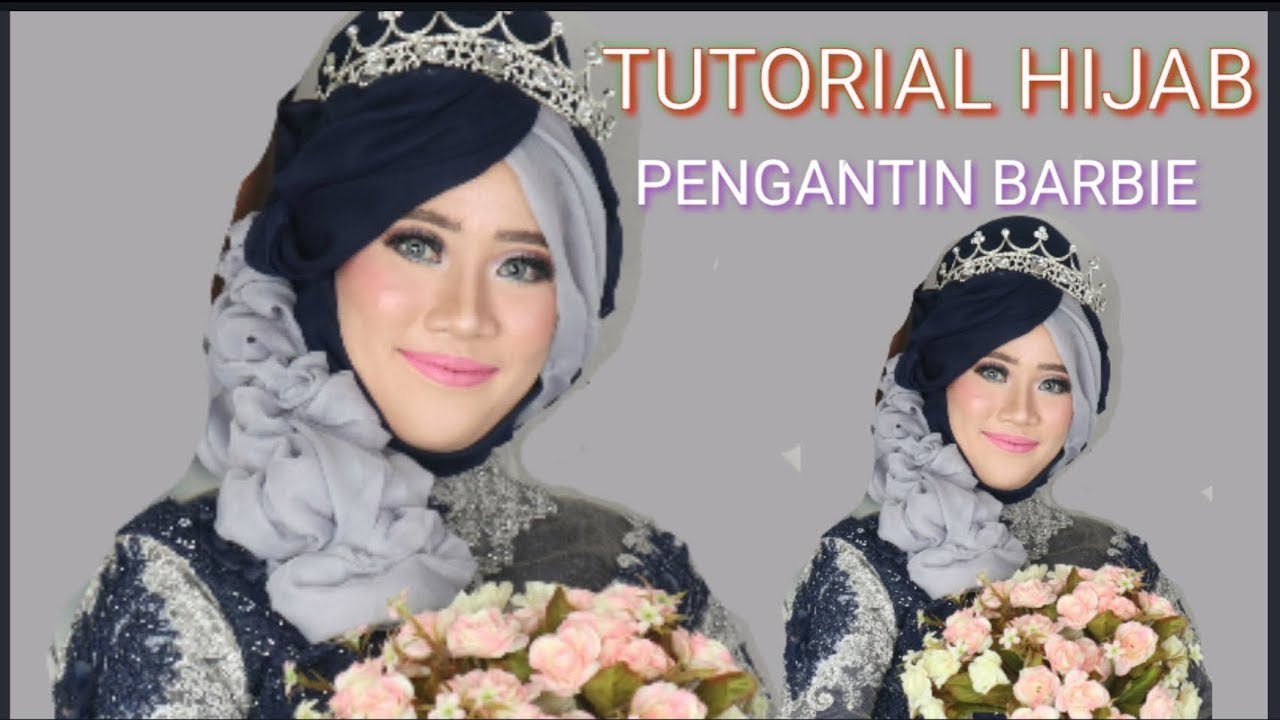 Tutorial Hijab Pengantin Barbie Kemayoran Youtube