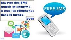 Nouvelle Application, envoyer des SMS gratuit et anonyme à tous les téléphones dans le monde