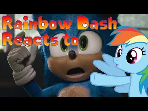 IT'S NEW!!! | Rainbow Dash Reacts To SONIC THE HEDGEHOG Trailer #2 Official (NEW 2020) Animated