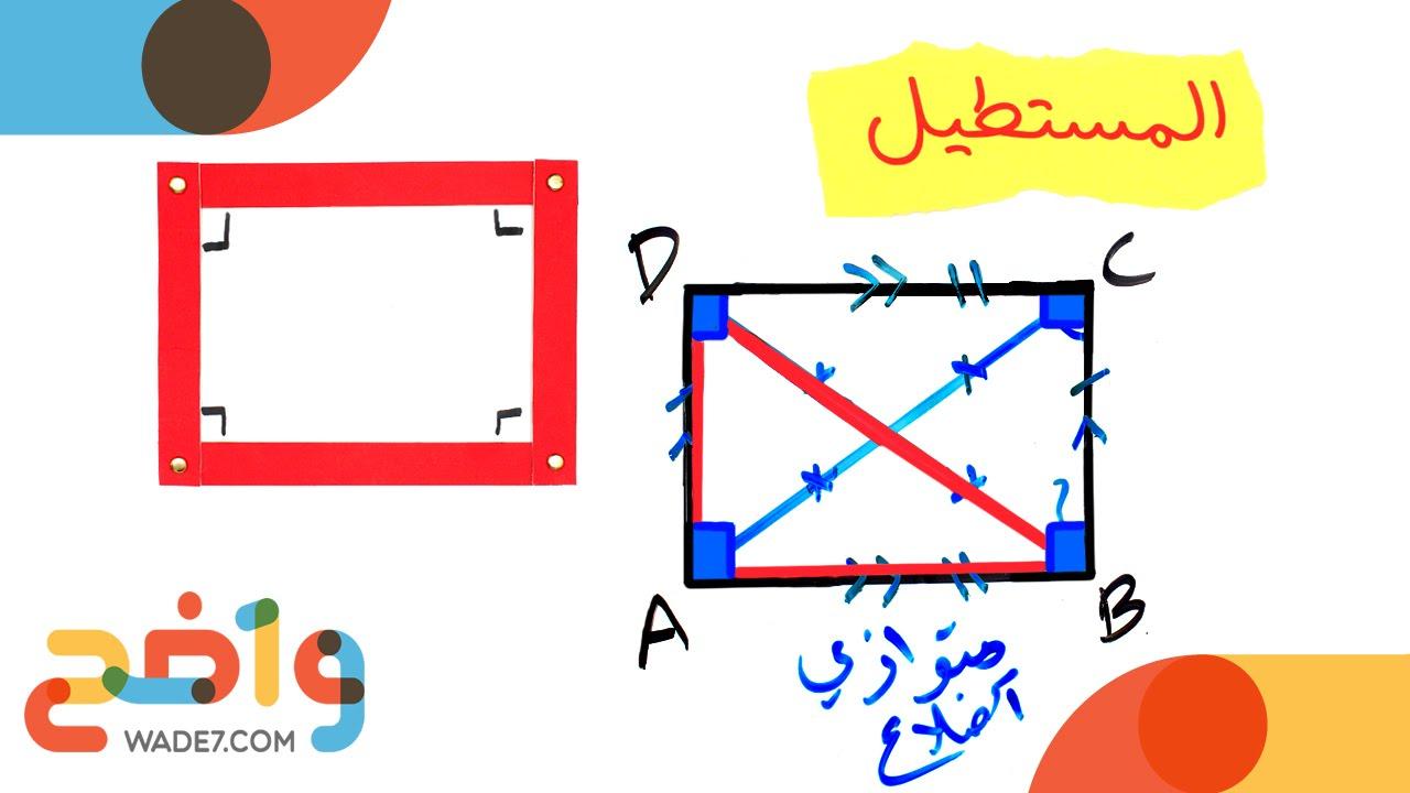 المستطيل رياضيات أول ثانوي الفصل الثاني Youtube