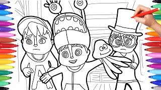 Alvinnn and the Chipmunks, Alvin Coloring Pages for Kids, How to Draw and Color Alvin Simon Theo 3