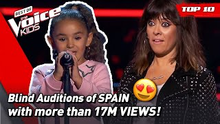 The MOST VIEWED Blind Auditions of The Voice Kids SPAIN 2021! 🇪🇸