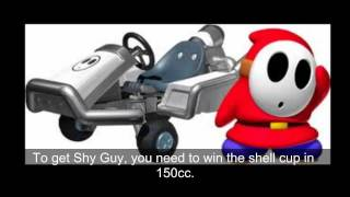 Mario Kart 7 - How to unlock all characters and kart parts!