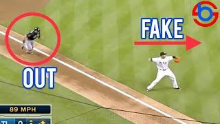 MLB | Fake Throws Fake out