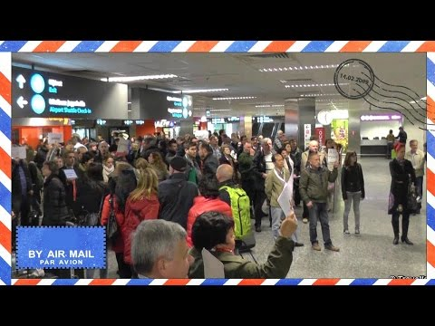 Inside Budapest Airport - BUD International arrivals terminal - Budapest Ferihegy International