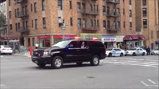 NYPD & United States Secret Service Escorting A Motorcade Up 1st Ave During The General Assembly
