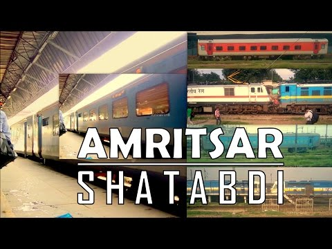 Onboard Amritsar Shatabdi | Departure from New Delhi | Arr&Dep at Ambala Cantt | Journey compilation