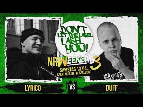 Duff vs Lyrico // DLTLLY RapBattle (NRWeekend3 // Düsseldorf) // 2019