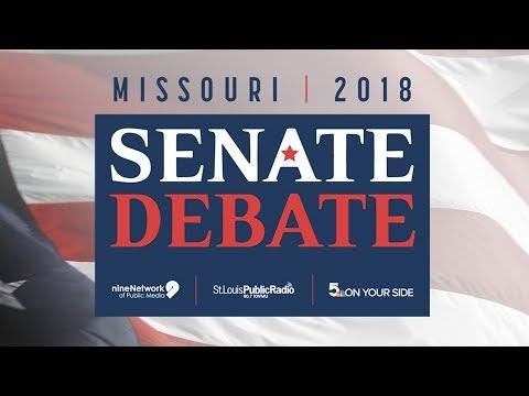 U.S. Senate debate with Republican Josh Hawley and Democrat Claire McCaskill