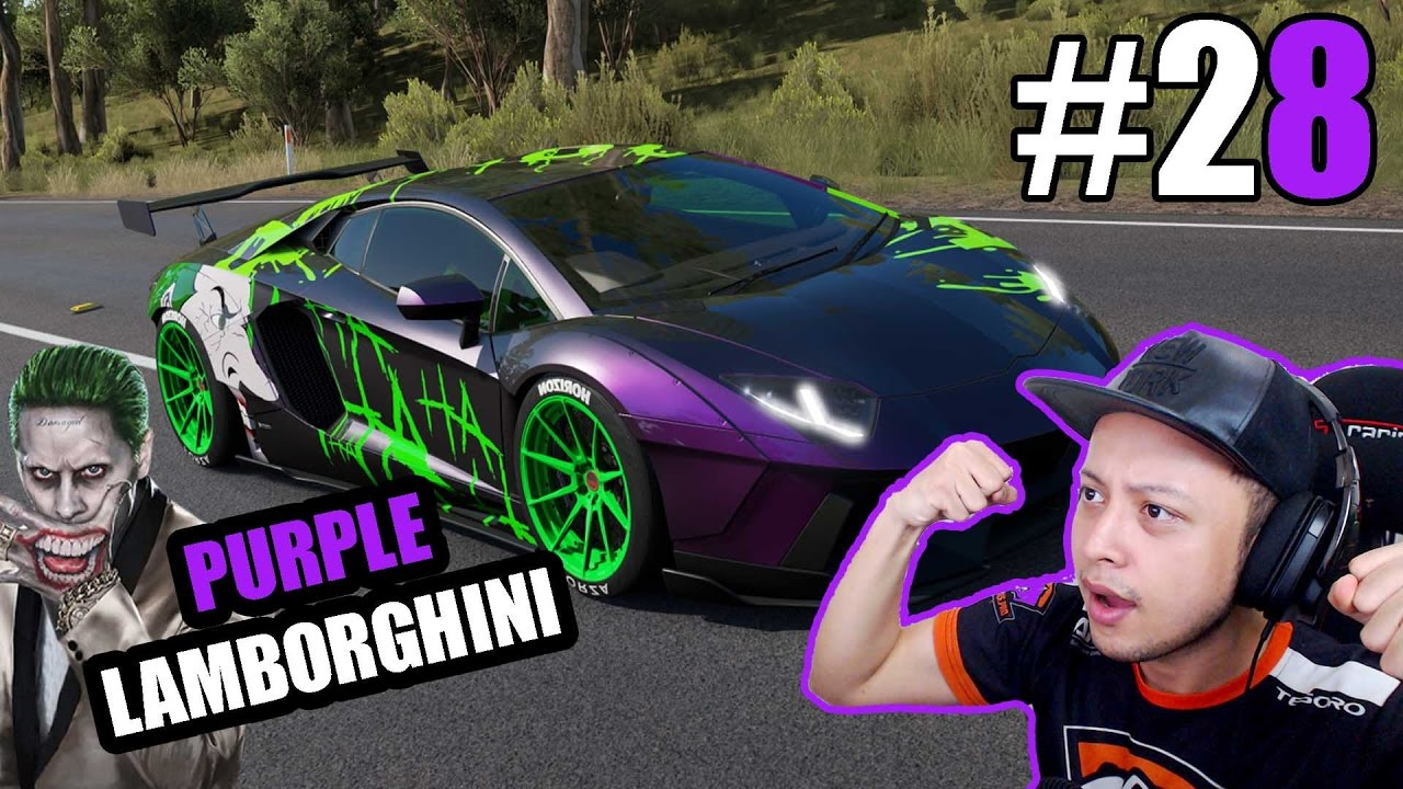 Purple Lamborghini Joker Forza Horizon 3 Indonesia 28 Youtube