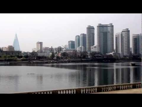 Orwellian loudspeakers blast across Pyongyang in April 2012.