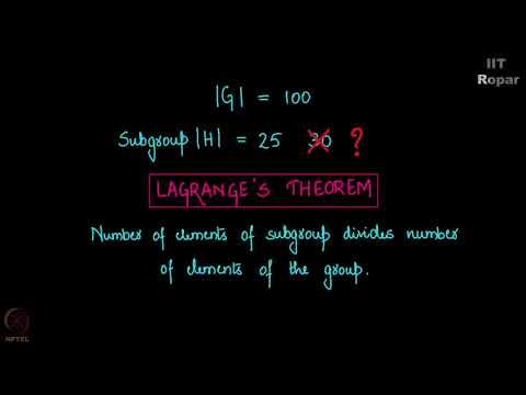 Lagrange's Theorem