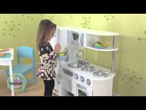 KidKraft Weiße Retro Küche 53208 - YouTube