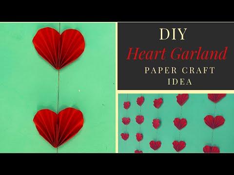 DIY Paper Craft Heart Idea Garland#Komali Arts