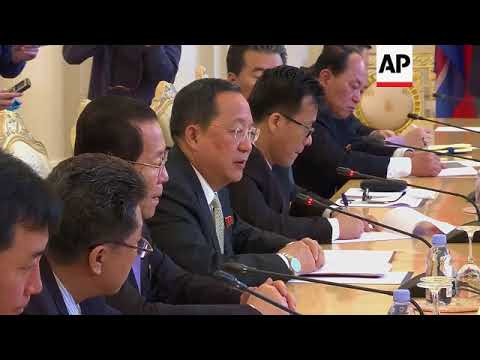 Russia and NKorea FMs comment after meeting in Moscow