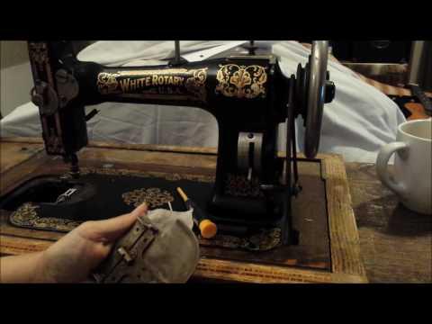 White Rotary Treadle Antique Sewing Machine - Sewing Machine Refurbishing