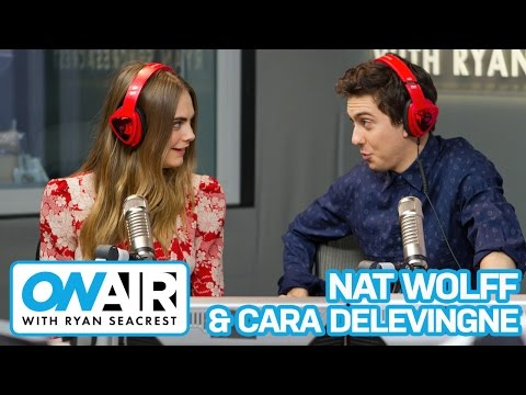 """Cara Delevingne & Nat Wolff Talk """"Paper Towns"""" 