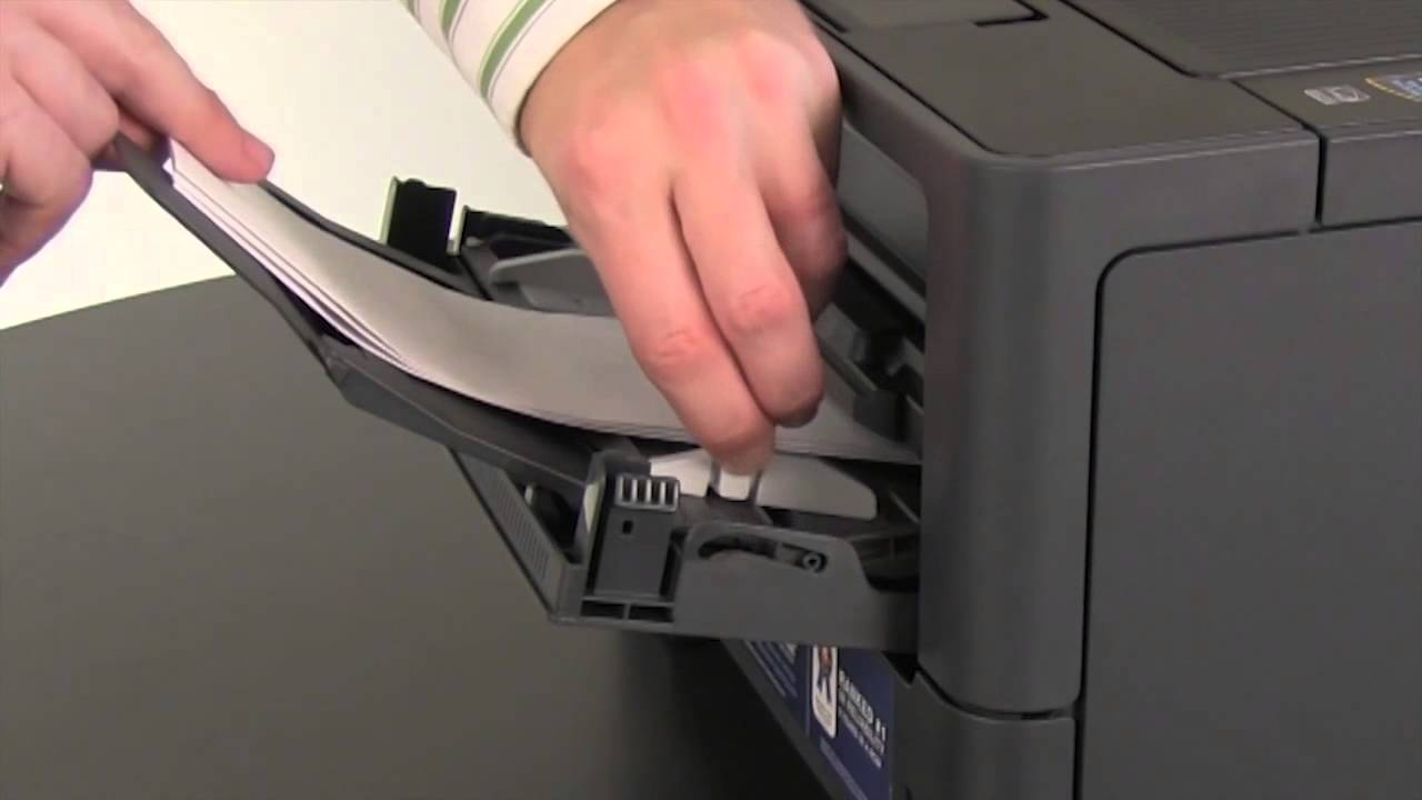 How to print envelopes, labels, or thick paper | Brother HL5450DN,  HL5470DW, HL6180DW