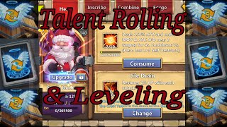 Castle Clash Talent Rolling and Leveling Santa Boom Part 3 of 3