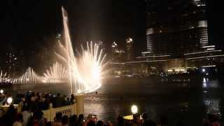 Burj Khalifa Dancing Fountains - Arabic song (My trip to Dubai)