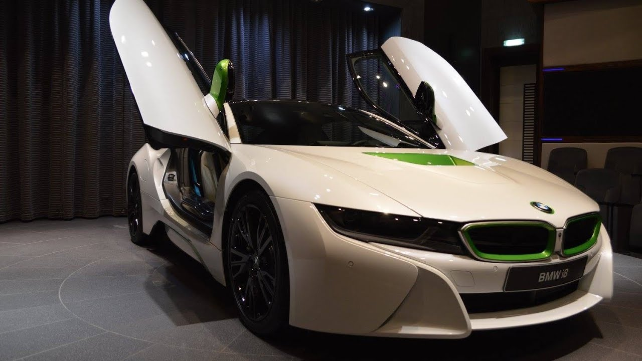 BMW I8 In White U0026 Java Green Showed At BMWu0027s Abu Dhabi Dealership   YouTube
