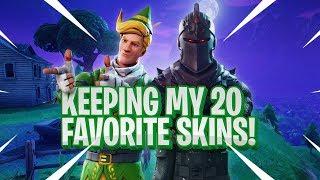 KEEP 20 SKINS... the rest get DELETED (Fortnite Battle Royale)