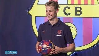 Frenkie de Jong wordt gepresenteerd bij FC Barcelona