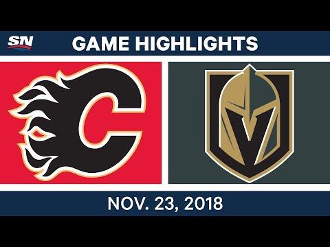 NHL Highlights   Flames vs. Golden Knights – Nov. 23, 2018
