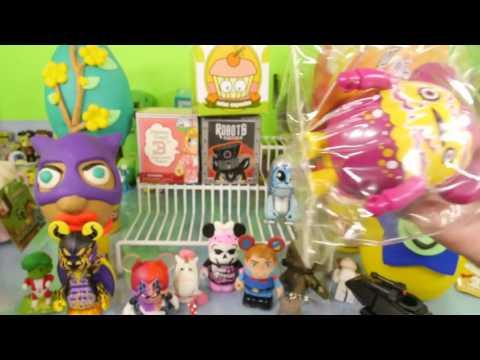 Play Doh Surprise EGGS Toys Vinylmation Sleeping Beauty Simpsons Miss Cupcakes DCTC Playdough Video