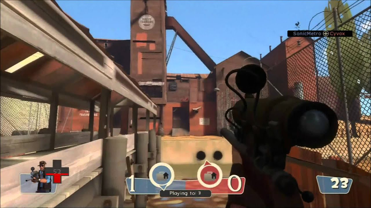 Team Fortress 2 Sniper Frags (xbox 360 gameplay) - YouTube