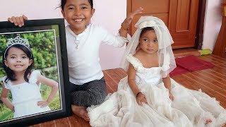 shanti mencoba baju princess kakak shinta wah cantik sekali - gaun princess anak
