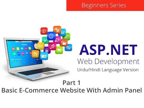 Basic E-Commerce Website in ASP.NET - Part 1 - Urdu/Hindi Language