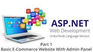basic e commerce website in asp net part 1 urdu hindi language