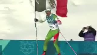 El mexicano Germán Madrazo llega último, pero es recibido como héroe en Pyeongchang