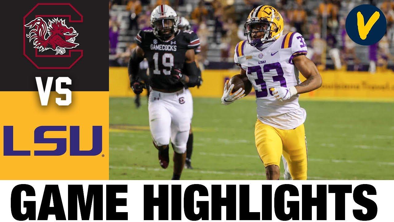 South Carolina Vs Lsu Highlights Week 8 2020 College Football Highlights Youtube