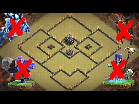 New Best TH9 WAR BASE LAYOUT 2019 | Defense Against TH10 ELECTRO DRAG LALOON, WITCH SLAP,  MASS DRAG