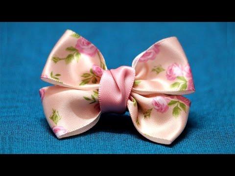 Ribbon Bow Hair Clip | Double Bow | Hair Clip | How To Tie A Bow