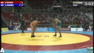 120 кг. Хаджимурад Гацалов — Курбан Курбанов (Узбекистан)